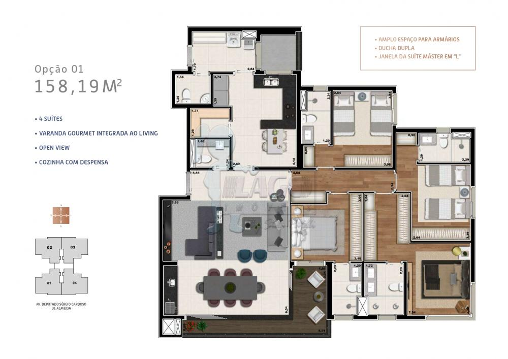 Comprar Apartamento / Padrão em Ribeirão Preto R$ 1.139.816,00 - Foto 5